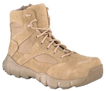 Reebok Dauntless RB8621 6-inch Desert Tan Side Zip Composite Toe Military Boots