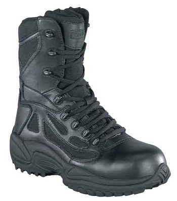 Reebok Womens Rapid Response 8 inch Waterproof Side Zip Tactical Boots- RB877
