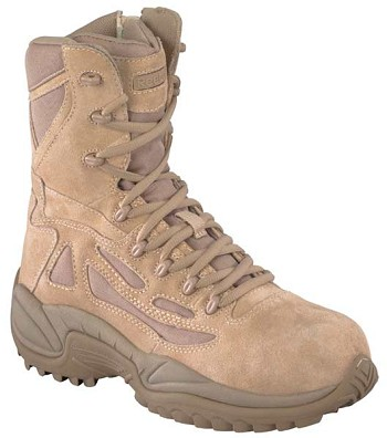 Reebok Rapid Response 8 inch Desert Side Zip Military Boots- RB8895