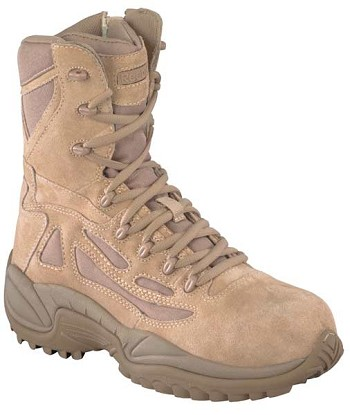 Reebok Rapid Response 8 inch Desert Tan Military Boots- RB8896