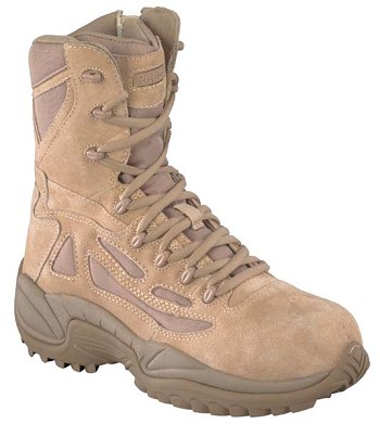 Reebok Womens Rapid Response 8 inch Desert Tan Military Boots- RB896