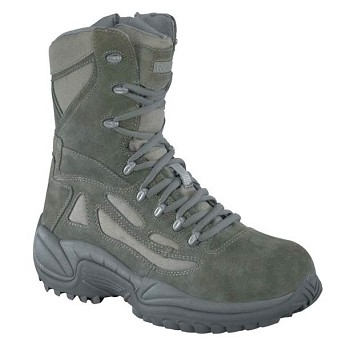 Reebok Womens Rapid Response 8 inch Sage Green Zip Composite Toe Military Boots - RB899