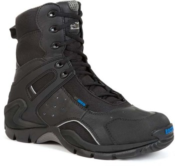 Rocky First Med 8-Inch Safety Toe Black Side Zip Waterproof EMT Boot - 911-113
