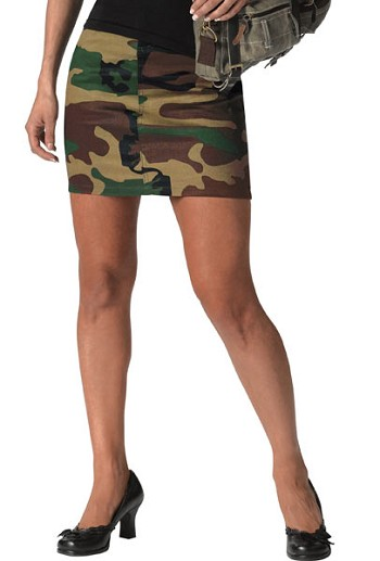 Womens Short Skirt Woodland Camo