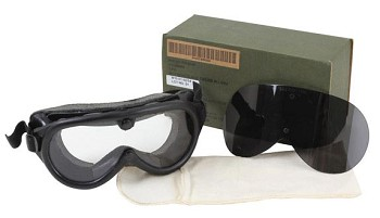 Basic Issue Sun, Wind, and Dust Protective Goggles with Ballistic Lenses