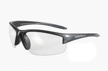 Smith and Wesson Equalizer Shooting Glasses - Gun Metal Frame with Clear Lens