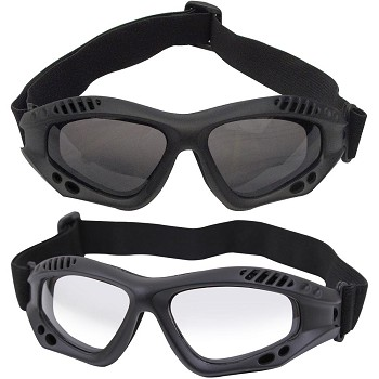 Basic Issue ANSI Rated Black Tactical Goggles