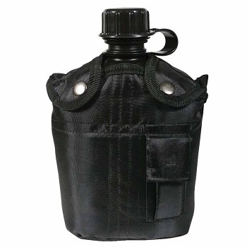 Black GI Plastic Canteen Kit with Cup and Cover