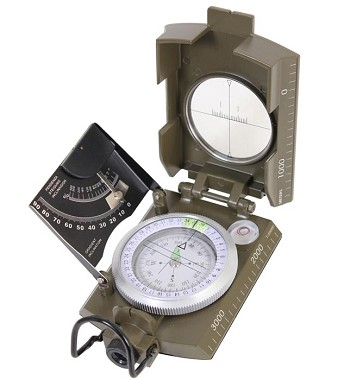 Deluxe Marching Compass with Inclinometer