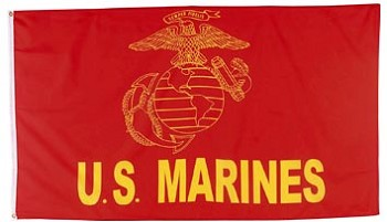 Red And Yellow Marines Flag - 3 x 5