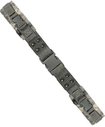 Basic Issue ACU Camo Tactical Belt with Horizontal Pouches