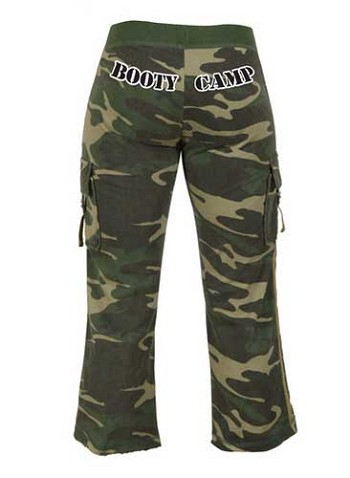 Women's Woodland Camo Booty Camp Capri Sweatpants
