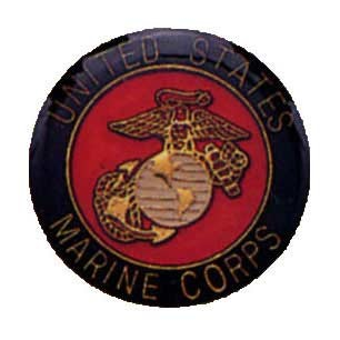 Full Color Marine Corps Pin with Logo
