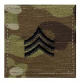 Multicam Army Sergeant E5 Insignia Patch