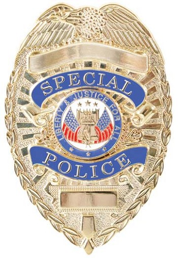 Gold Special Police Badge