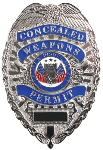 Deluxe Silver Concealed Weapons Permit Badge