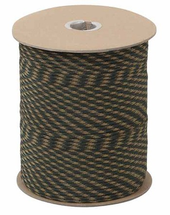 Woodland Camo 550 Military Paracord 1000 Foot Spool