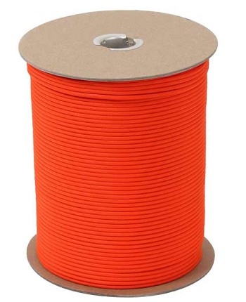 Bright Orange 550 Military Paracord 1000 Foot Spool