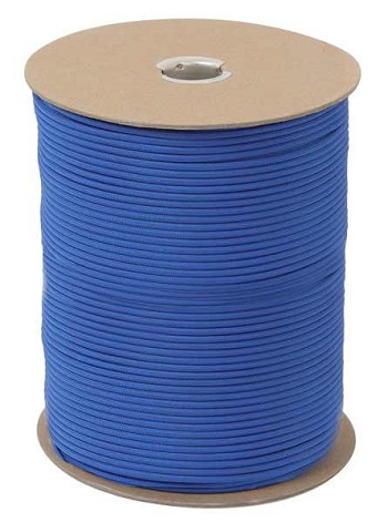 Royal Blue 550 Military Paracord 1000 Foot Spool