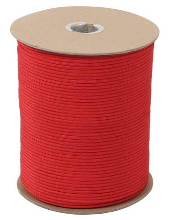 Red 550 Military Paracord 1000 Foot Spool