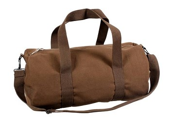 Brown 19 inch Heavyweight Canvas Duffel Bag