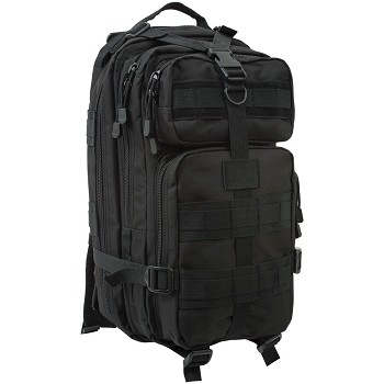 Black Military Tactical Transport Pack