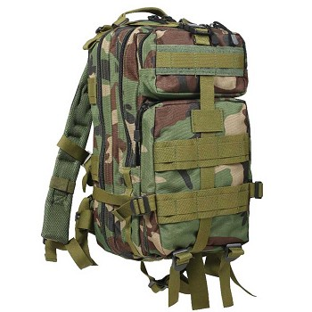 Woodland Camo Military Transport Pack
