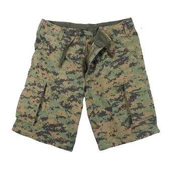Woodland Digital Camo Vintage Shorts