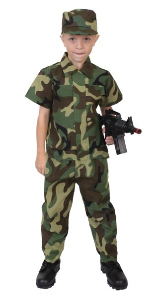 Kids Junior Army Man Costume