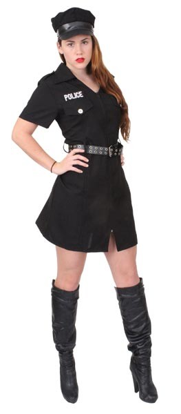 Womens Black Police Woman Costume