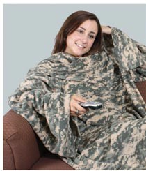 Military ACU Snuggie Style Sleeved Blanket