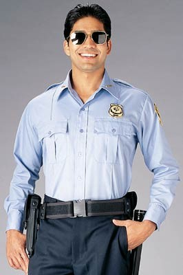 Light Blue Long Sleeve Genuine Police Issue Uniform Shirt
