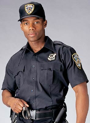 Navy Blue Short Sleeve Police Issue Uniform Shirt