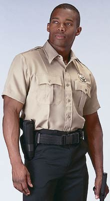 Khaki Short Sleeve Genuine Police Issue Uniform Shirt