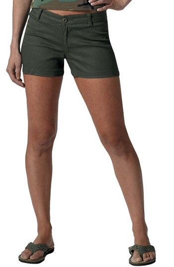 Womens Olive Drab Military Shorts
