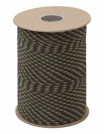 Woodland Camo 550 Military Paracord 600 Foot Spool