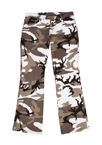 Womens City Camo Camouflage Flare Pants