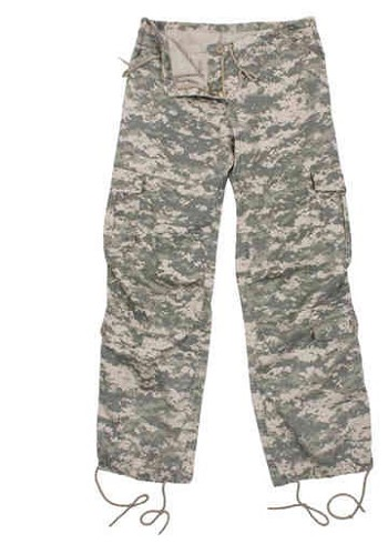 Women's Vintage ACU Digital Camo Paratrooper Pants