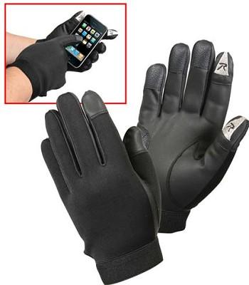 Black Touch Screen Friendly Tactical Gloves