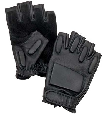 Leather Fingerless Rappelling Glove