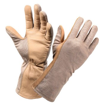 G.I. Type Sand-Tan Flame Resistant Flight Glove