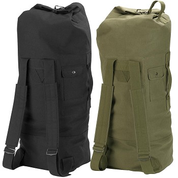 Military 2-Strap Backpack Duffle Bag - Olive Drab