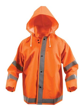 Orange Safety Reflective Rain Jacket