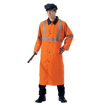 Deluxe Reversible Orange Hi Vis Rain Parka