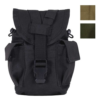 Black MOLLE Compatible Canteen Pouch