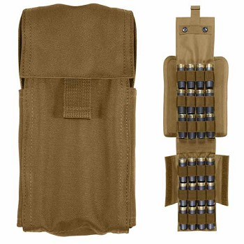 Coyote Molle Shotgun/Airsoft Ammo Pouch