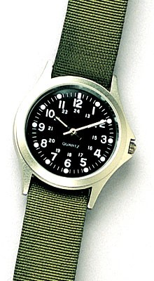 Olive Drab Military Style Quartz Watch