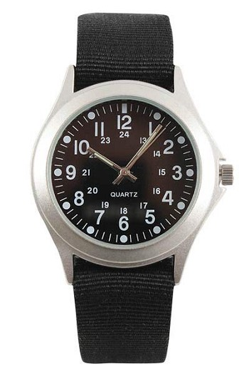 Quartz Military Watch - Black