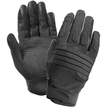 Basic Issue Black Padded Knuckle Gloves