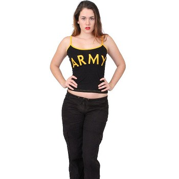 Women's Black Army Sleeper Tank Top